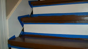 stairs makeover painters tape