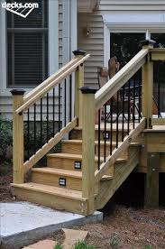 best 25 outdoor stair railing ideas on deck railing designs for stairs