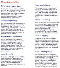 Create A Programme For An Event Lister Steps The Old Library Events Activities