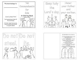 Free Printable Ten Commandments Coloring Pages Wurzen Striking For
