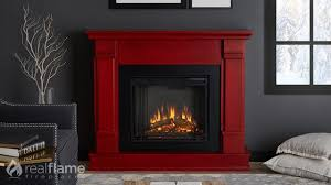 real flame silverton electric fireplace mantel