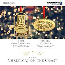 Has been serving up mobile's best coffee shop experience for nearly 20 years. Christmas On The Coast Ornaments Goodwill Gulf Coast