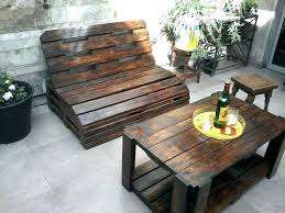 garden furniture made of pallets. Wooden Garden Furniture Outdoor Table Image Of Made From Pallets Design E