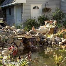 how to build a pond and waterfall in