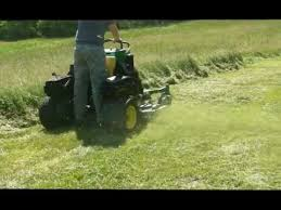 john deere lawn mower zero turn. john deere 667a stander/surf type commercial zero turn lawn mower cutting through 2\u0027 high grass! 3d