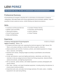 Videographer Resume Mike Staff Productions Freelance Videographer Resume Sample Saint