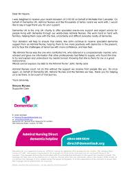 How To Thank Donors For Their Support Dementia Uk Thank You Letter For Donation Chris Hayers