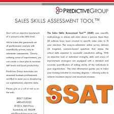 Sales Skills Assessment Tool An Objective Look At An Individuals