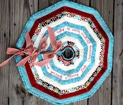 Quilted Christmas Tree Skirt Pattern Interesting Decoration