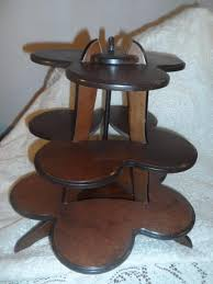 Wooden Display Stands For Figurines Vintage Wood 100 Tier Flower Table Top Curio Display Stand Figurine 23