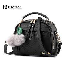 <b>HJPHOEBAG</b> Women PU Leather Shoulder Bags Small Shell Bag ...