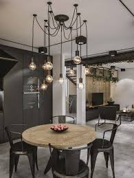 industrial dining room lighting. chic industrial loft in lithuania gets modern updates dining room lighting g