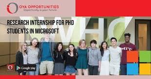 Microsoft Internship Apply Research Internship For Phd Students In Microsoft Oya