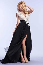A-Linie V-Ausschnitt Chiffon lange Abendkleider Ballkleider billig ...