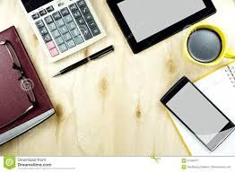 wood desk top view. Plain Top Download Office Table Desk Top View With Smart Device Working Wood  Stock Image  Inside E