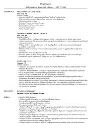 Vascular Tech Resume Samples Velvet Jobs