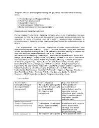 Training Needs Analysis Template Sample Assessment Proposal