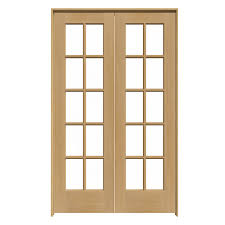 reliabilt 10 lite wood unfinished clear glass wood pine pre hung door with hardware common 48 in x 80 in actual 49 625 in x 81 6875 in
