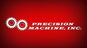 machine shop logo. precision machine shop motion design logo