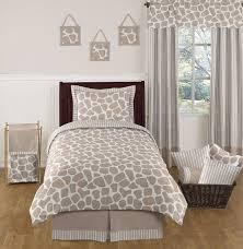 giraffe neutral kids bedding 4 pc twin set by sweet jojo designs only 119 99