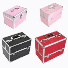 china cosmetic box packaging aluminium makeup vanity box