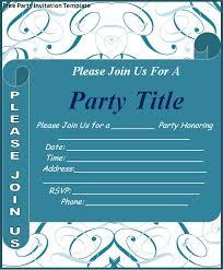 Invitation Layouts Free Under Fontanacountryinn Com