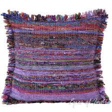 purple chindi colorful decorative boho rag rug bohemian sofa throw pillow couch cushion cover 20