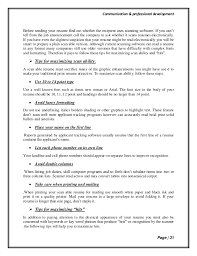 ... Resume Scanner 15 Communication Professional Development Page 30 Format  31.