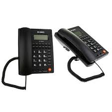 2x corded standard phone with caller id