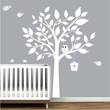 tree decal for walls nursery wall decal white tree with birds bird house  wall zoom wall