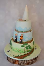 Hiking Cake Designs Hiking Themed Wedding Cake Sat On A Wooden Log Hand Painted