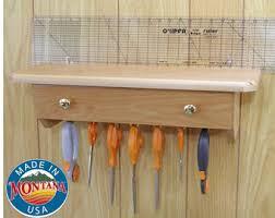 Quilt ruler holder | Etsy & Quilting ruler holder, wall mounted, 14 slots, solid beech Adamdwight.com