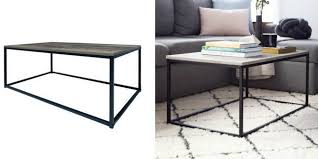 industrial coffee table turns luxe concrete top coffee table