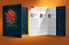 Mothers Day Banquet Program Template On Behance