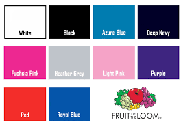 Fruit Of The Loom T Shirt Color Chart Future Mrs T Shirt
