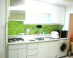 tile backsplash green colors kitchen