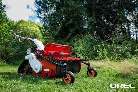 the orec samurai features a front pivot wheel that makes turning the brush mower easier allowing the operator to turn the machine around obstacles and