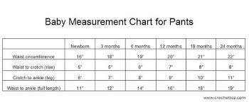 Shock Measurement Chart Baby Measurement Chart For Making Pants Size Chart