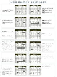 Year To Year Calendar School Year Calendar Idaho City Schools