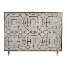 geometric fireplace fire screen chinese chippendale single panel