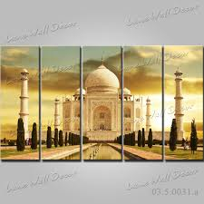 no frame canvas painting 5 pieces india taj mahal wall art pictures for living room home decoration canvas prints free in painting calligraphy