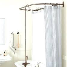 tub shower conversion kit d clawfoot bathtub curtain brass head style ring