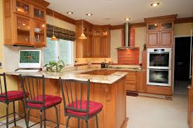 Natural Cherry Cabinets Kitchen Remodeling Contractor Custom Kitchen Bathroom Cabinets