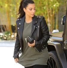 kim kardashian biker style jacket jpg