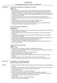 Retail Trainer Sample Resume Retail Training Manager Resume Samples Velvet Jobs 6