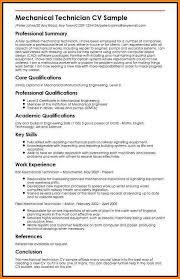 10+ mechanical technician resume