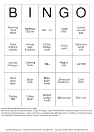 Download And Print Norwex Bingo Cards Product And Sales Bingo