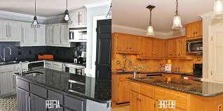 paint kitchen cabinets before and afterPainted Oak Kitchen Cabinets Before And After  SMITH Design  How