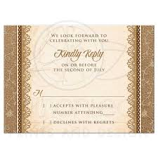 How To Reply To Wedding Rsvp Card Wedding Rsvp Card Rustic Burlap Lace Wood