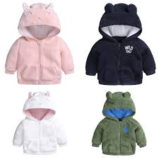 details about baby girl boy kid infant winter warm hoo hooded sweater jacket coat outerwear